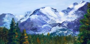 original oil painting estes park