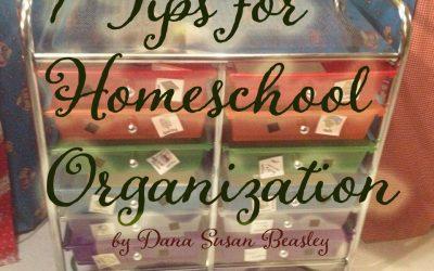 7 Tips for Homeschool Organization